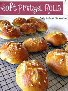 Lady Behind The Curtain - Soft Pretzel Rolls step by step recipe and the many uses/recipes   #Rolls #Pretzel