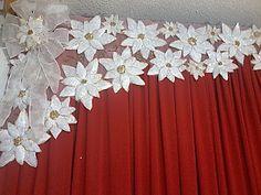 Ideas que mejoran tu vida Christmas Tree Crafts, Christmas Home, Holiday Crafts, Christmas Decorations, Christmas Ornaments, Holiday Decor, Diy Gifts For Kids, Cloth Flowers, School Decorations