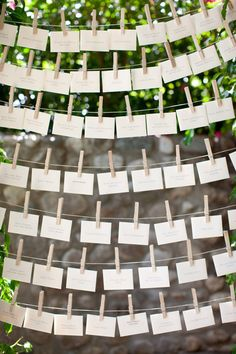Escort Card Display ~ Photography by birdsofafeatherphotography.com