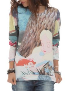 Disney Alice In Wonderland Sleeping Pullover Top\   so cute. They need Winnie the Pooh stuff though
