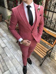 Terziademaltun - İtalyan stil slim fit ceket yelek pantolon takım elbise turuncu T2696 (1) Mens Fashion Blazer, Suit Fashion, Fashion Outfits, Super Moda, Prom Suits For Men, Dapper Suits, Designer Suits For Men, Party Suits, Mens Clothing Styles