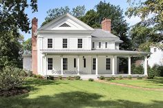 New 1850s Greek Revival Farmhouse traditional exterior