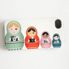 Matryoshka Doll iPhone 4/4S or 5/5S Tough Case  - I need this.