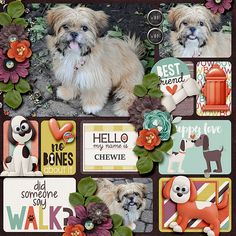 Layout using {Bow Wow} Digital Scrapbook Bundle by Digilicious Design http://www.sweetshoppedesigns.com/sweetshoppe/manufacturers.php?manufacturerid=49 #digiscrap #digitalscrapbooking #digiliciousdesign #bowwow