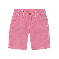 Boy's red and white bermuda SUN68 SS15 KIDS #SUN68 #SS15 #kids #boy #bermuda