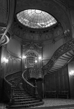 Rococo Stairwell with Glass Dome Skylight