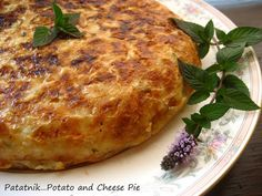 Home Cooking In Montana: Bulgarian Patatnik...Shredded Potato and Cheese Pie with Mint