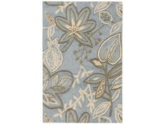 Nourison Fantasy Light Blue Indoor Handcrafted Area Rug (Common: 2 x Actual: W x L) at Lowe's. These beautiful transitional rugs are meticulously crafted with high-density, hand-hooked yarns and hand carved for additional texture and dimension. Light Blue Area Rug, Blue Area Rugs, Blue Rugs, Target Rug, Floral Area Rugs, Transitional Rugs, Rug Material, Indoor Rugs, Luxury Home Decor