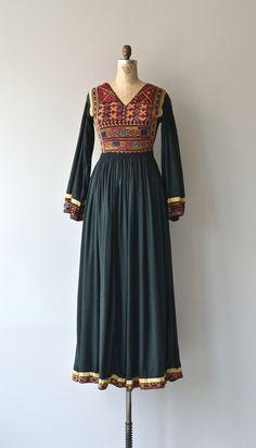 Afghani Kuchi dress vintage 1970s tribal dress 70s by DearGolden