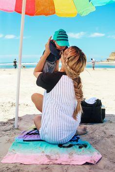 Beach baby & mommy