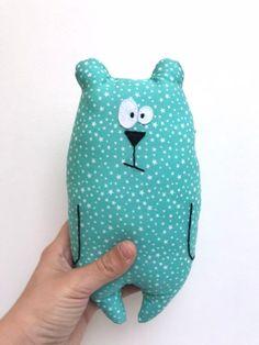 OyOy Mini Mr Nelsson Cushion Peluche singe pour enfant en coton 62 x 17 cm