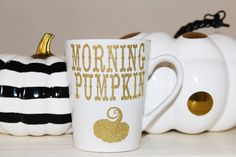 Morning Pumpkin Mug by MyFetchingFancies on Etsy https://www.etsy.com/listing/467691692/morning-pumpkin-mug