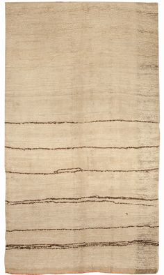 A Modern Vintage Moroccan Rug with a minimal linear design.