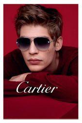 Cartier - Panthere Aviator Silver Aviator Unisex Sunglasses - 60mm Cartier Sunglasses, Mens Sunglasses, Baptiste Radufe, Cartier Men, New Advertisement, Cartier Panthere, Daniel Jackson, Sport, Male Models