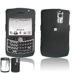 BlackBerry 8330 8310 8320 8300 Cell Phone Black Rubber Feel Protective Case Faceplate Cover $0.05