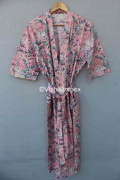 Hand Printed Fabric, Printed Cotton, Printing On Fabric, Cotton Kimono, Kimono Top, Maxi Gowns, Floral Prints, Summer Dresses, Long Dresses