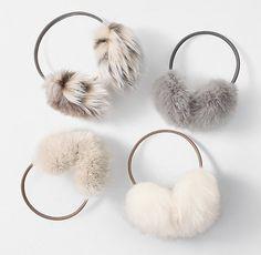 I Want A New Hostel Winter Earmuffs Ear Warmers Faux Fur Foldable Plush Outdoor Gift