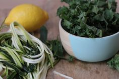 Kale & zucchini super green salad  Recipe on www.yolandahinchliffe.com  #recipe #healthcoach