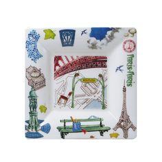 Gien Paris.Paris Large Candy Tray