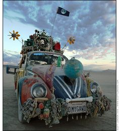 "Burning Man 2006... this was the first art car. I saw it in 1993 at burning man. the car is named: ""Oh My God."""