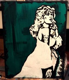 Belle de Jour Painting by ThatsHighlyOffensive on Etsy https://www.etsy.com/listing/229492201/belle-de-jour-painting