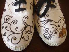 Zapatillas Pintadas A Mano Para Ninos