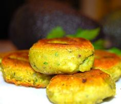 A recipe for delicious and spicy Avocado Shami Kababs. Chana Dal adds heft and protein to these tasty kababs. A gluten-free Indian vegan recipe. Eggless Recipes, Vegan Recipes, Cooking Recipes, Vegan Food, Free Recipes, Healthy Food, Healthy Eating, Scones Ingredients, Dips