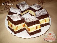 Hungarian Desserts, Hungarian Recipes, Hungarian Food, Delicious Desserts, Dessert Recipes, Cake Bars, Tiramisu, Waffles, Bakery