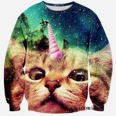 Cat Unicorn 3D Printed Sweatshirt - Unicorn Onesies