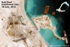 Subi Reef satellite image July 18, 2015, from author Victor Robert Lee. South China Sea issues. https://medium.com/satellite-image-analysis/subi-reef-spratly-islands-south-china-sea-satellite-image-update-july-18-2015-93068cf4778a