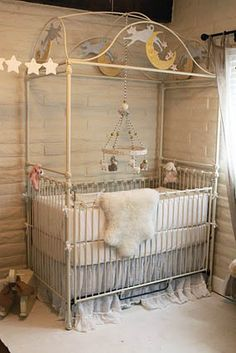 antique white vintage chic moon stars nursery moon and stars crib with bella notte bedding