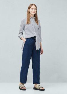 Soft fabric trousers - Women