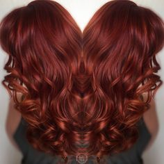 Red Orange , balayage , wavy hair, @HairLegacy Inc hair by: Emilio V.