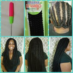 """Havanna Mambo Twist by Janet Collection.   Length 24"""".  #miamibraids…"""