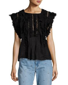 Nandy Crocheted Lace Tunic Top by Isabel Marant at Bergdorf Goodman.