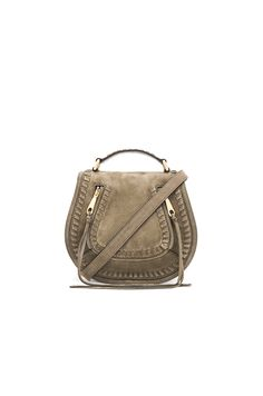 REBECCA MINKOFF SMALL VANITY SADDLE BAG. #rebeccaminkoff #bags #shoulder bags #lining #suede #