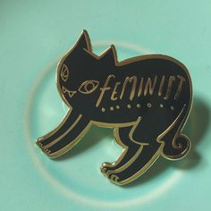Hey, I found this really awesome Etsy listing at https://www.etsy.com/listing/263849286/black-cat-feminist-enamel-pin