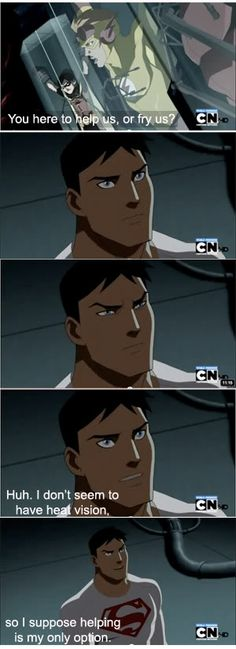 When you realize Wally almost got the team killed. When you realize Wally almost got the team killed. Young Justice League, Superboy Young Justice, Young Justice Wally, Young Justice Funny, Young Justice Robin, Nerd, Batman, Dc Memes, Dc Characters