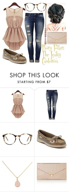 """""""Rory Potter: The Leaky Cauldron"""" by pearl-sea ❤ liked on Polyvore featuring Mavi, Love, Sperry and Accessorize"""