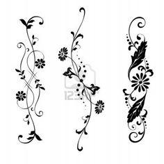 Vine Tattoos, Flower Tattoos, Small Tattoos, Tattoo Avant Bras, Flower Outline, Flower Ornaments, Henna Tattoo Designs, Tattoo Ideas, Best Friend Tattoos