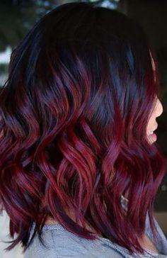 Maroon Hair Colors, Burgundy Hair Dye, Dark Maroon Hair, Burgundy Wine, Black And Burgundy Hair, Dark Burgundy Hair Color, Red Color, Dyed Tips, Hair Dye Tips
