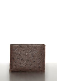 Joseph Abboud Ostrich Print Leather Passcase Bags Designer Collection Bag
