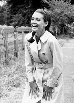 The Timeless Trench - We're in Love With These Rare Photos of Audrey Hepburn - Photos