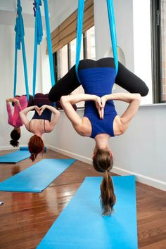 definitely exploring aerial yoga!