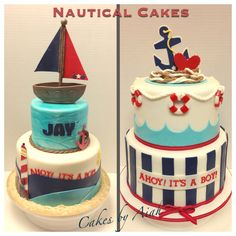 Nautical baby shower cakes