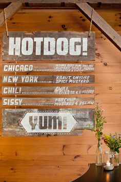 hotdog menu! please click through to see the rest of the details of this graphically amazing wedding :)