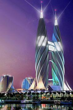 Концептуальный небоскреб архитектора Андрея Коротича #futuristicarchitecture