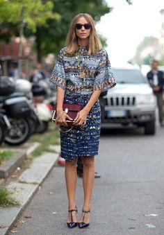 Printed. Street Style Milan Fashion Week Spring 2014