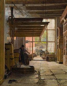 Brewery in Lübeck par Carl Moll
