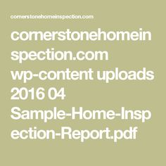 Full Service Home Inspections  Home Inspection Sample Report